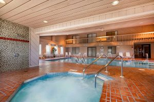 indoor hot tub at Ramada by Wyndham Wisconsin Dells