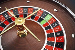 Casino Roulette 3D rendering concept